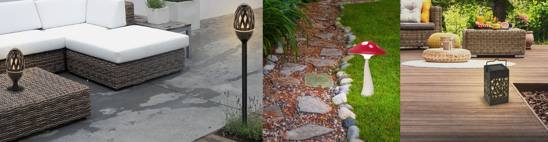 Lampes décoratives d'extérieur